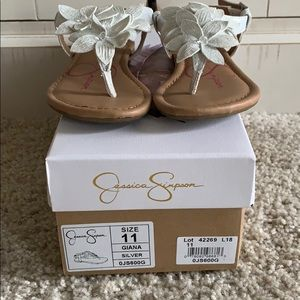 Jessica Simpson toddler girl sandals, size 11